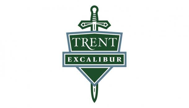 Trent Excalibur sword and shield green logo