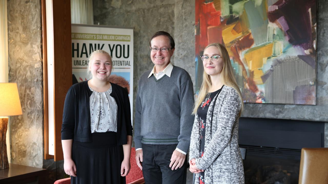 Meghan Visser, James Middleton and Anna Krissie Ross