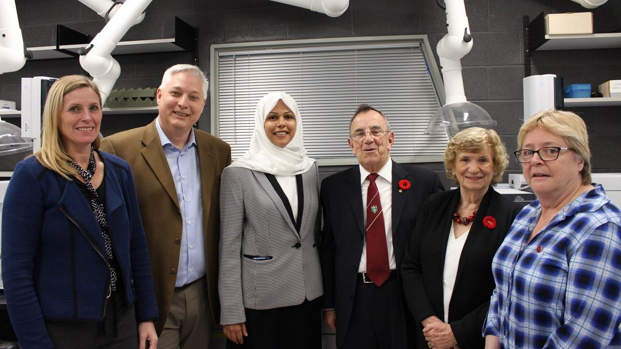 Sherry Booth, Dr. Andrew Vreugdenhil, Dr. Al-Abadleh, Dr. Ray March, Kathleen March, Dr. Jackie Muldoon