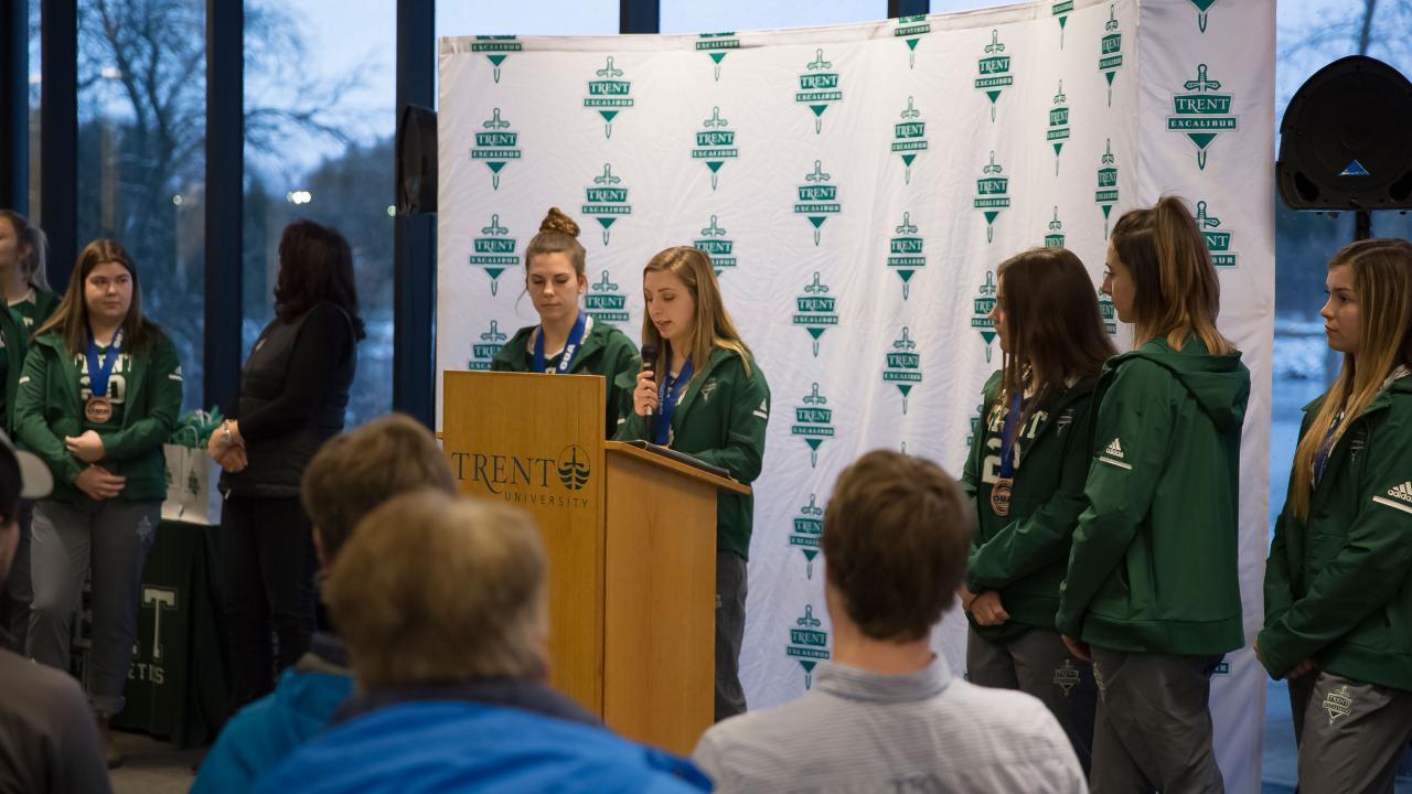 Trent University Women's Lacrosse OUA Celebration