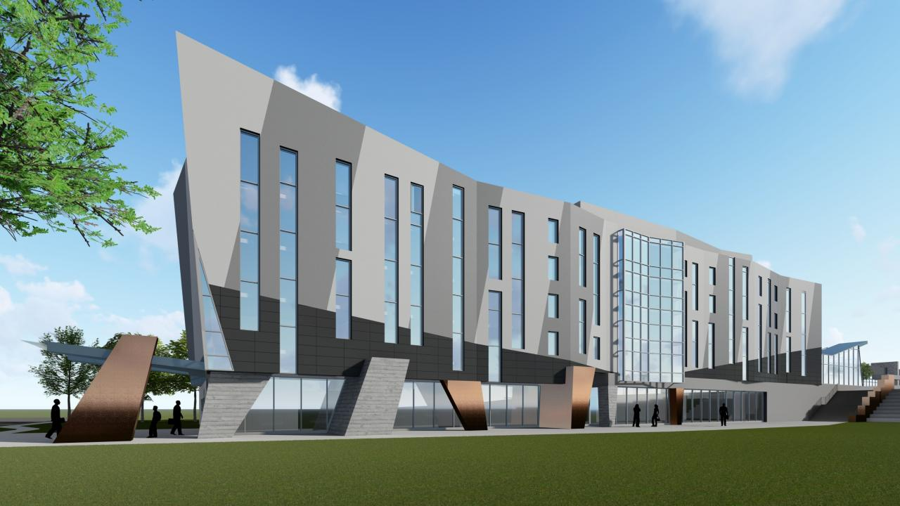 Architect rendering of Trent University Durham campus expansion. Subject to change