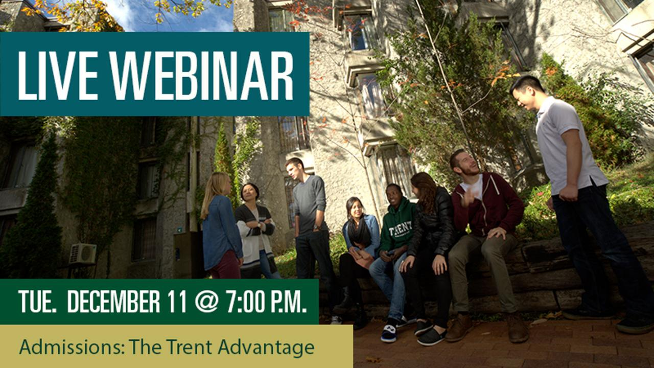 Admissions: The Trent Advantage Webinar