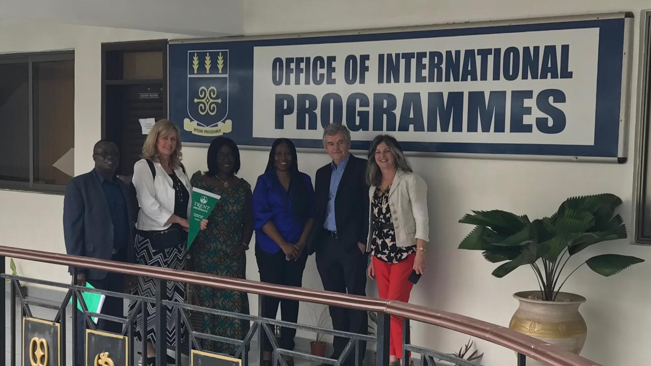 Trent representatives visit the University of Ghana