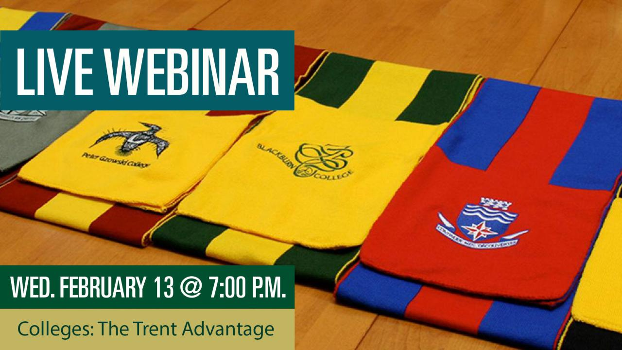 Colleges: The Trent Advantage Webinar