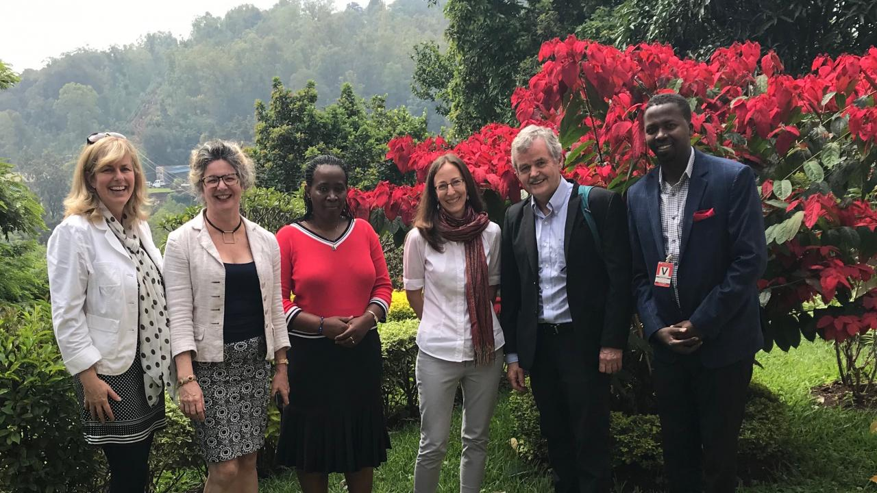 Trent official meet with the Canadian High Commission in Rwanda