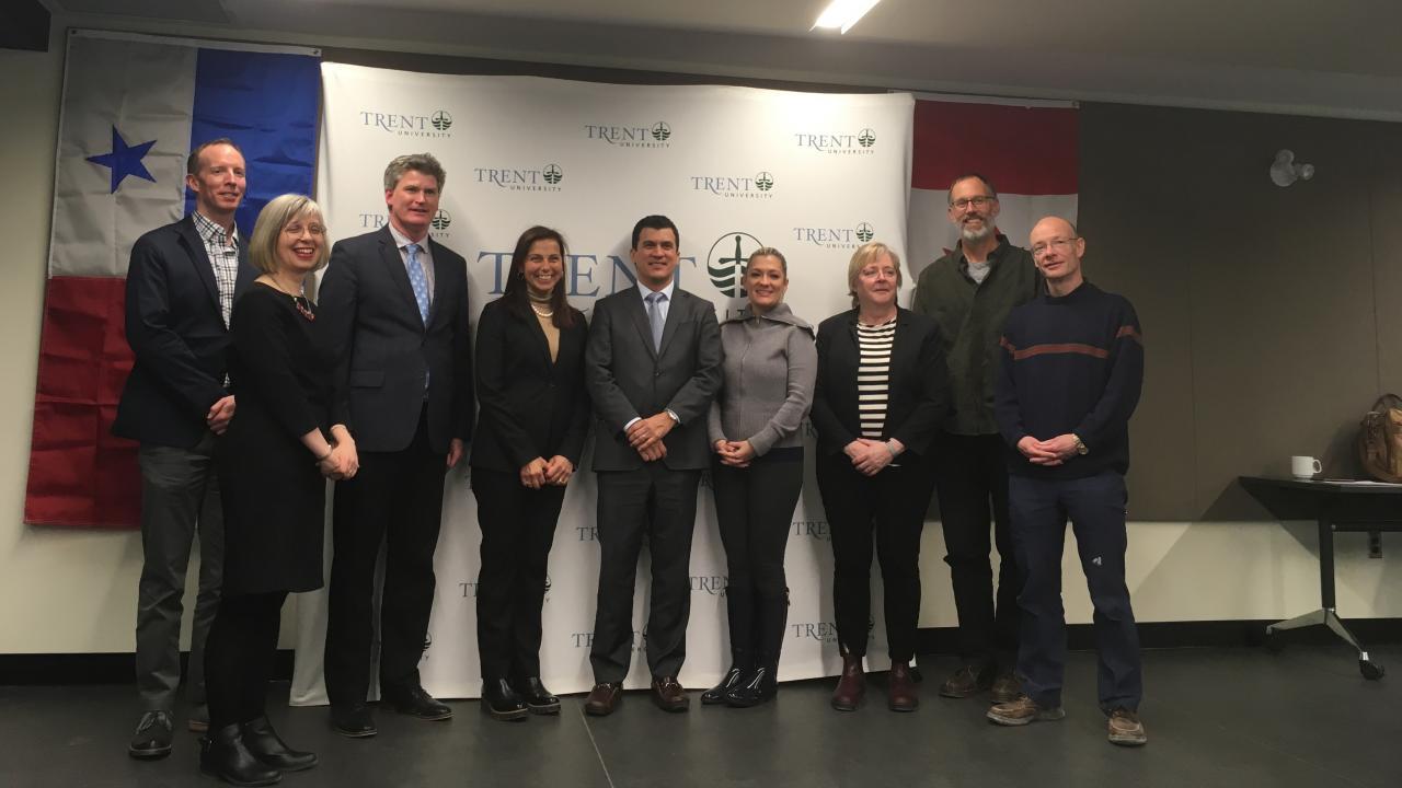 Panamanian ambassadors visit Trent University