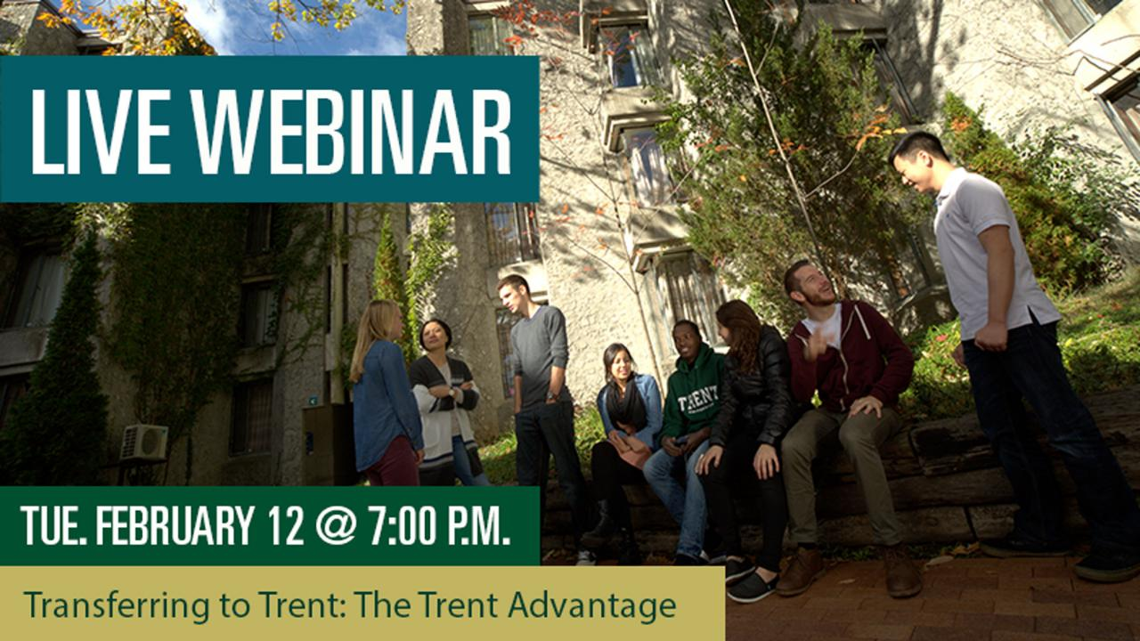 Transferring to Trent: The Trent Advantage Webinar