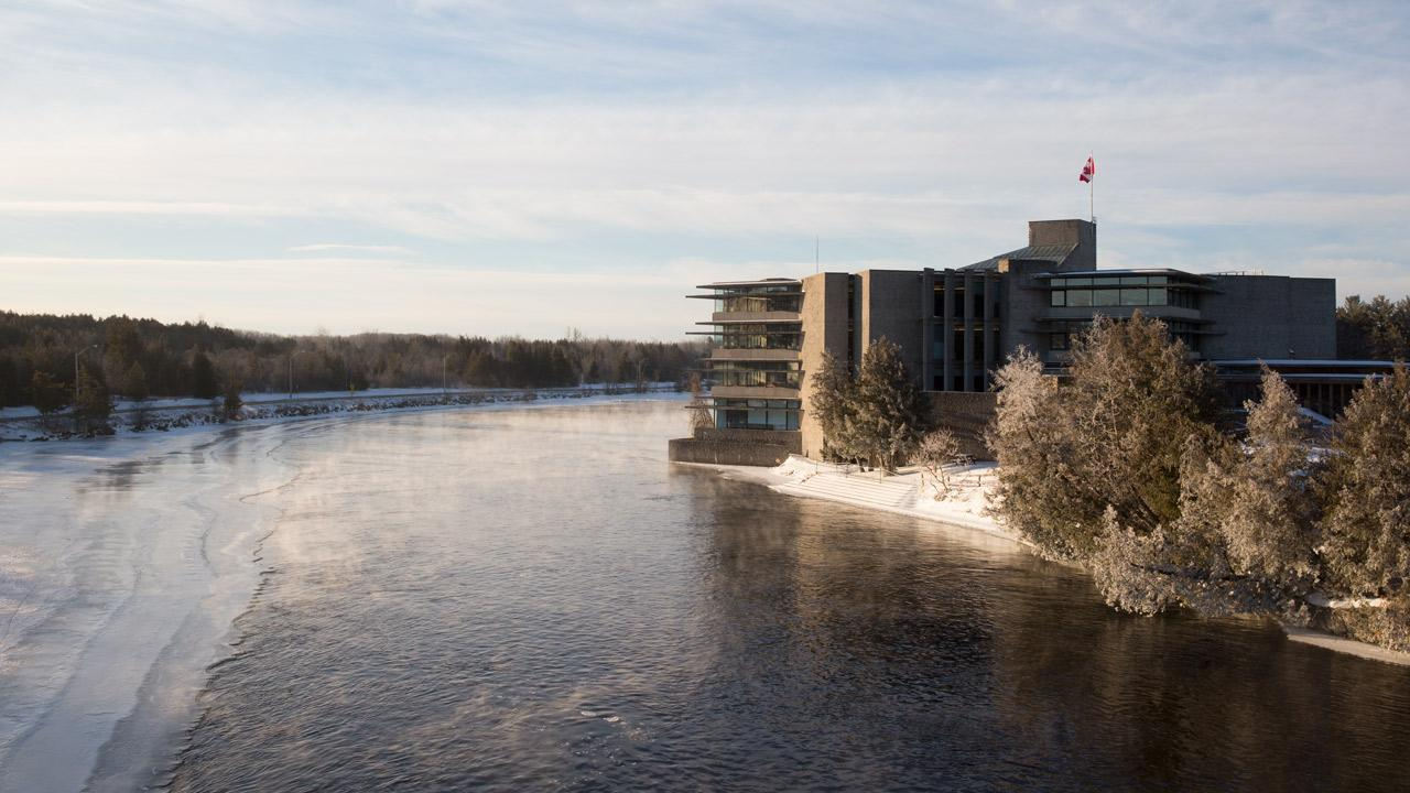 Bata Library in winter.