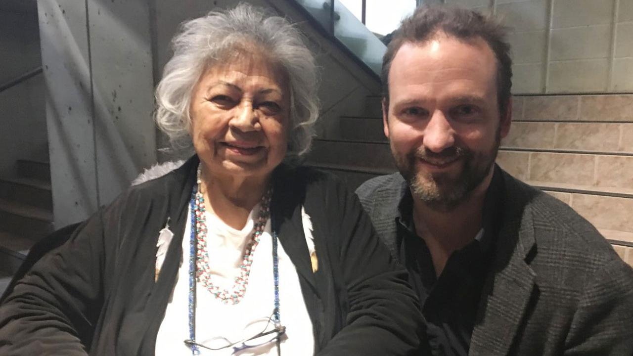 Dr. Shirley Williams and Mr. Sacha Trudeau smiling at the camera
