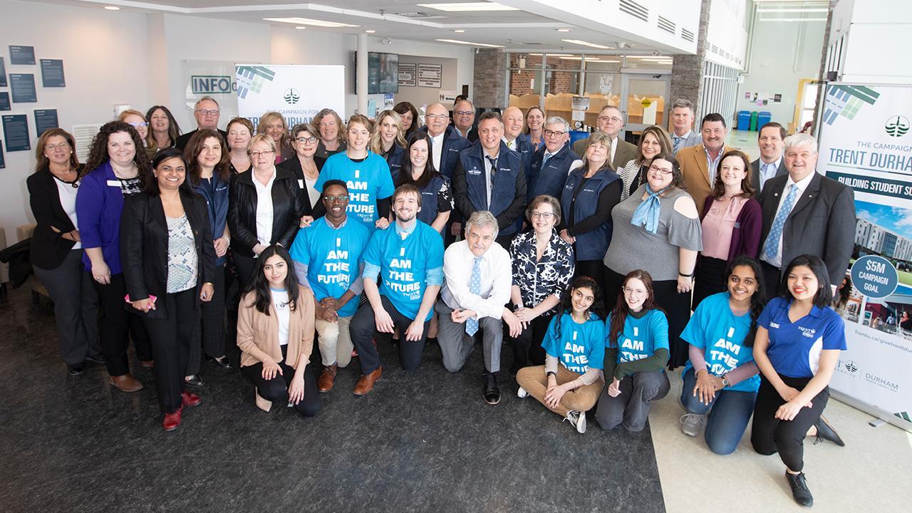 Trent University Durham GTA campaign launch group photo.