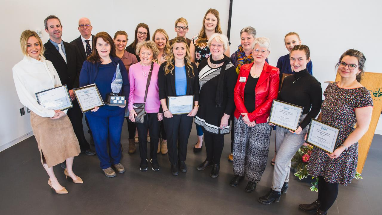 Trent/Fleming School of Nursing (TFSON) Awards group photo.