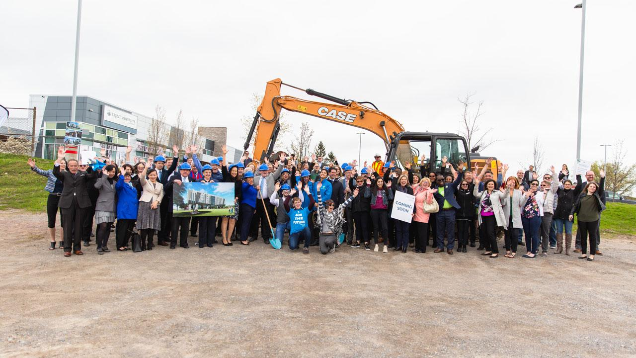A group photo of Trent University Durham GTA Expansion ground breaking ceremony.