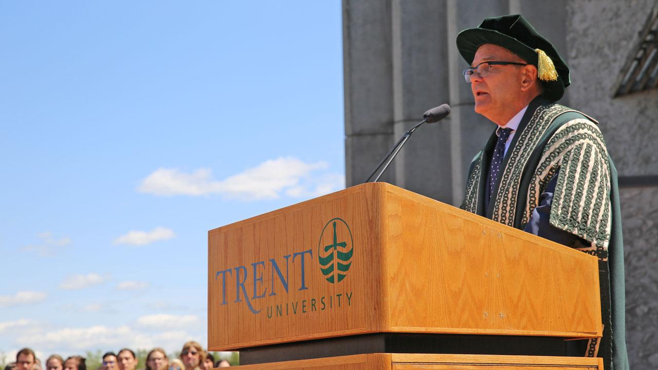Chancellor Don Tapscott addresses convocation