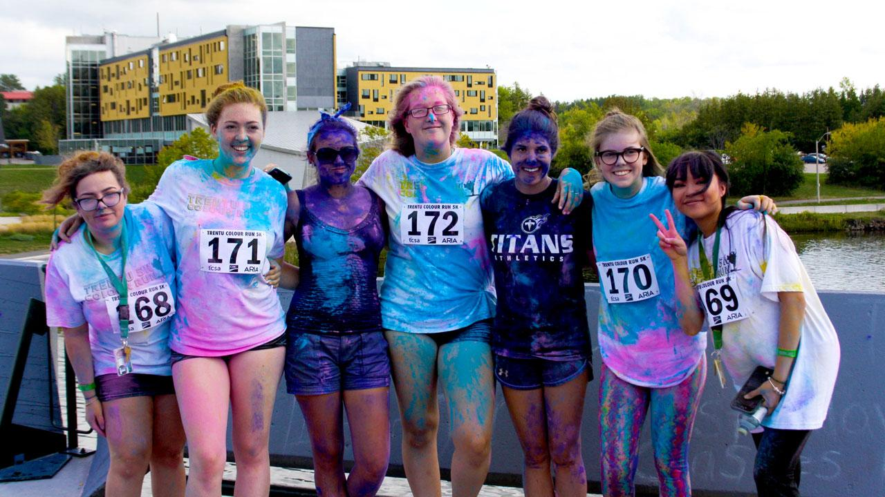 Trent University students participating in the annual colour run during the universities orientation week.