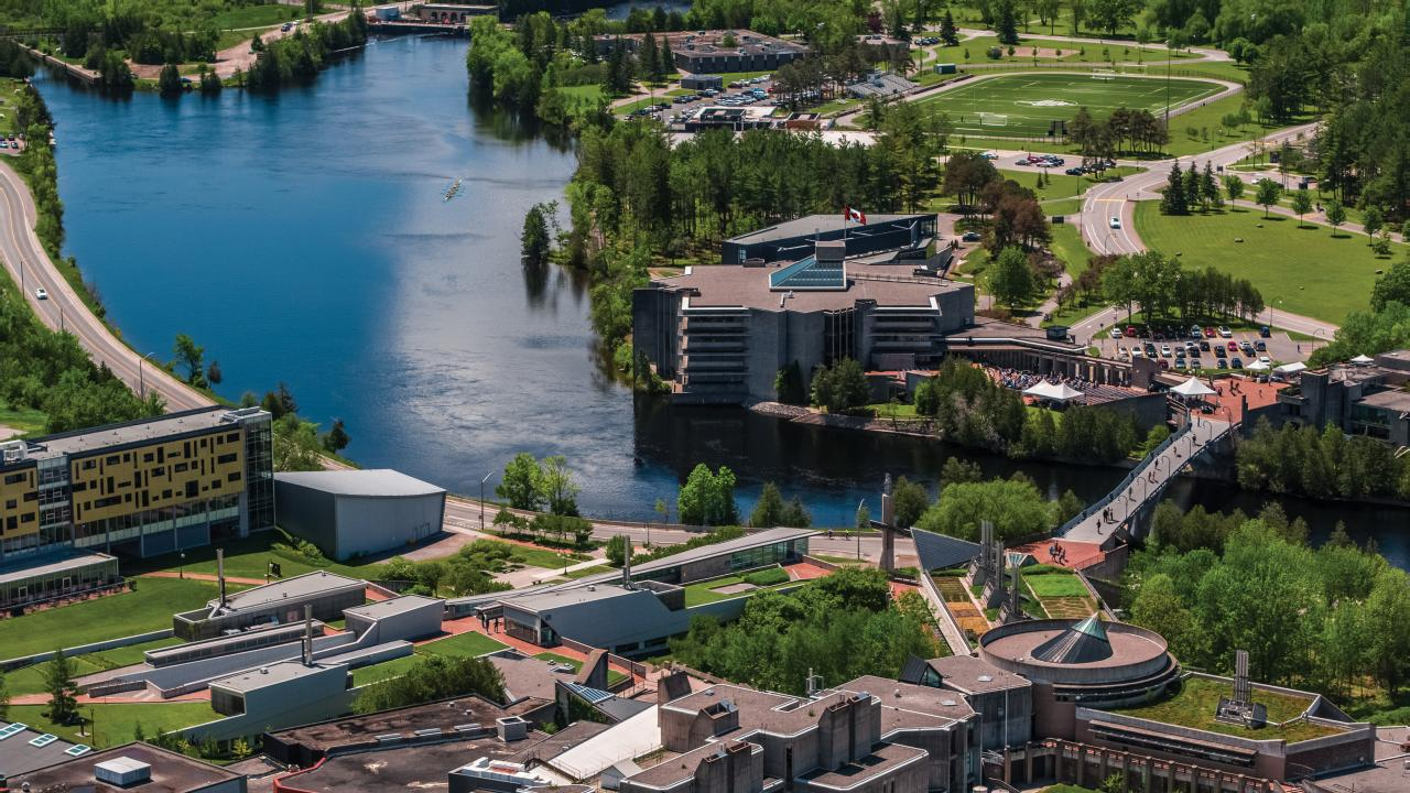 Aerial, Symons Campus, Trent University
