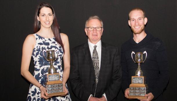 Sarah MacLaren and Joshua King with the Arthur Cup