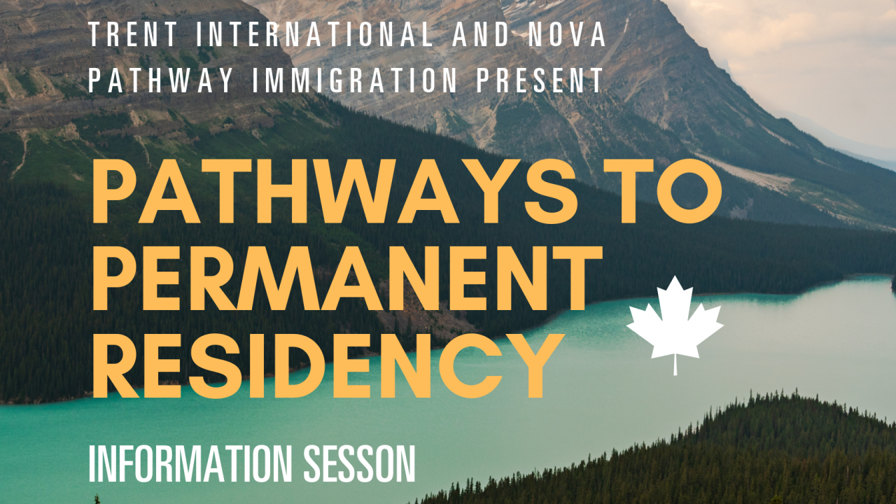 Pathways to permanent residency information session