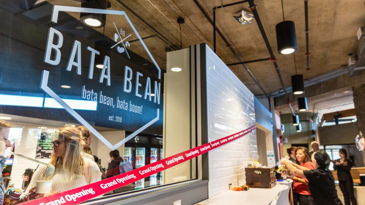 Entrance to Bata Bean, Bata Boom Café