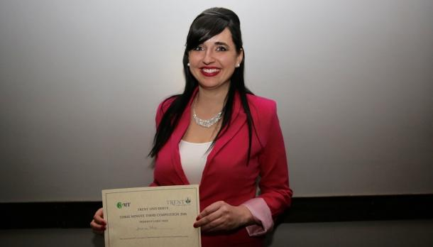 Jessica Reid named winner at 2016 Three Minute Thesis competition