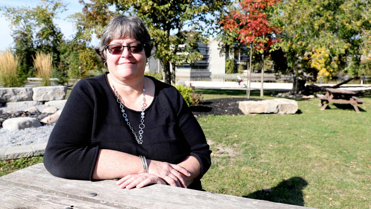 Trent University alumna and staff member of Trent for 30 years, Deb Earle ('87)