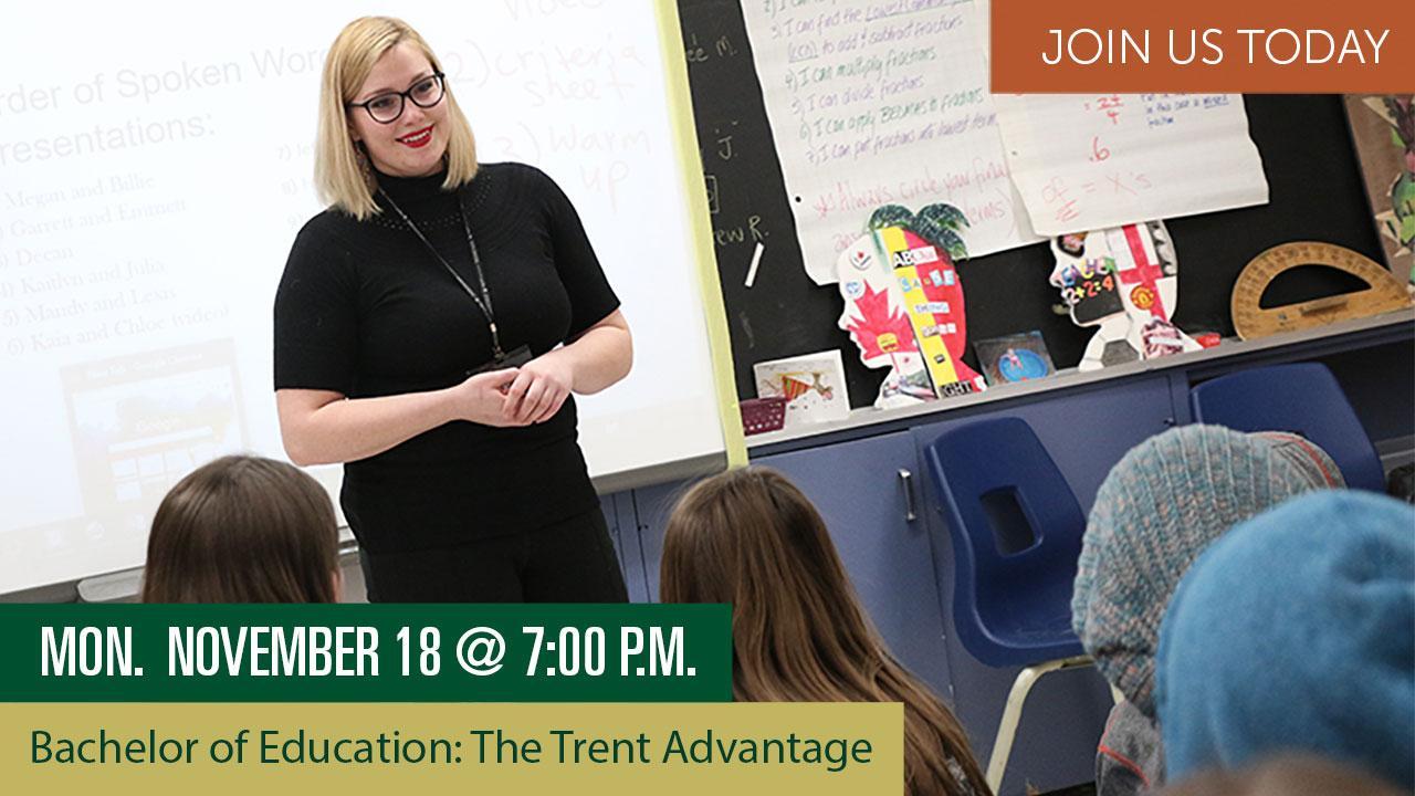 Bachelor of Education: The Trent Advantage