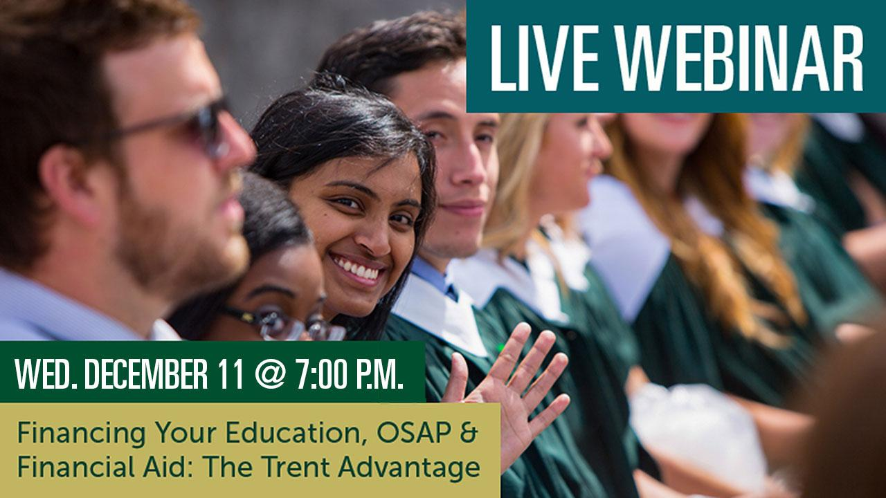 Financing Your Education: The Trent Advantage Webinar