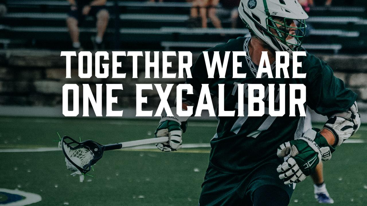 Together we are one excalibur.