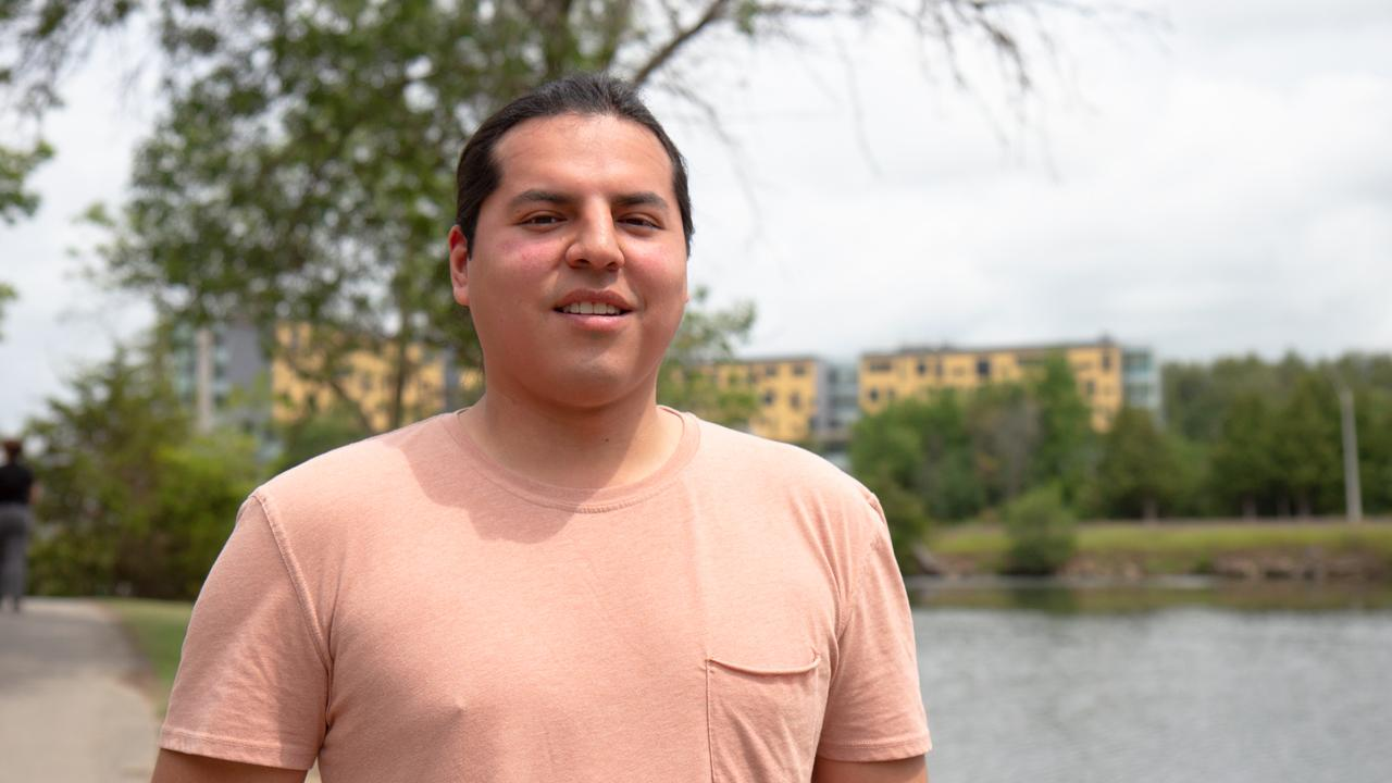 Rhode Thomas,a fourth-year Trent University Business Administration student from Six Nations of the Grand River
