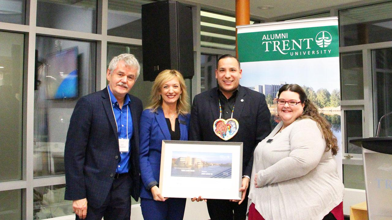 The Trent University Alumni Association has presented Jarret Leaman '05 with the Trent University Young Alumni Leader Award