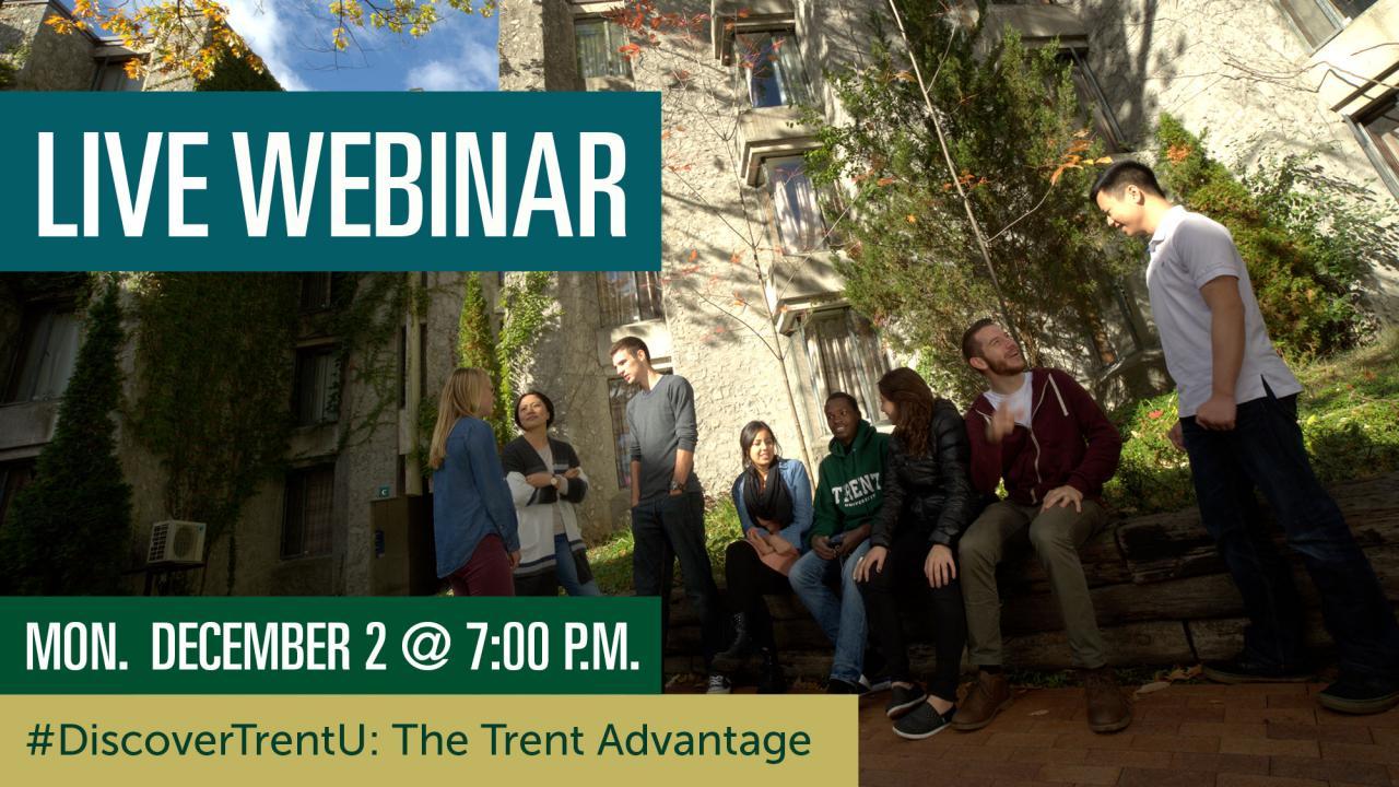Live Webinar: Discover TrentU - Dec 2 @ 7pm