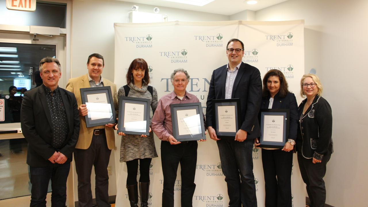 Trent University Durham GTA OUSA award winners